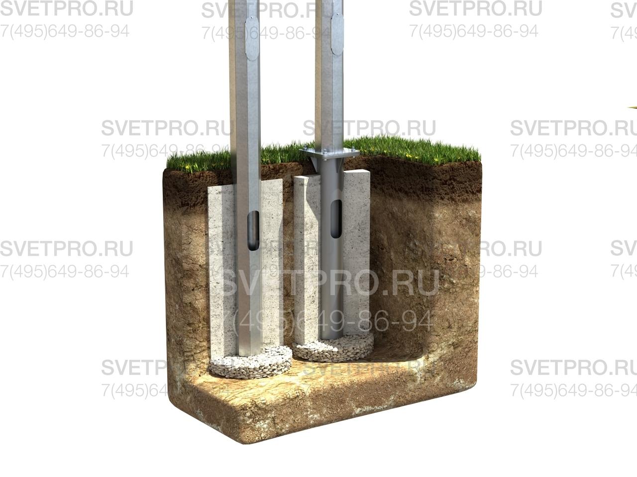 Линейка опор ОГК относится к категории несиловых опор. Поэтому провода к ним прокладываются под землей. Для ввода кабеля внутрь предусмотрены технологические лючки. После прокладки провода они заливаются бетоном для предотвращения коррозии и увеличения прочности.
