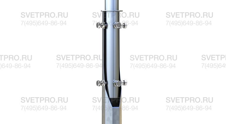 При использовании кронштейнов с хвостовой частью элемент, который вставляется внутрь ствола, обеспечивает большую площадь соприкосновения. За счет этого повышается сопротивляемость ветровым нагрузкам и увеличивается общая прочность конструкции.