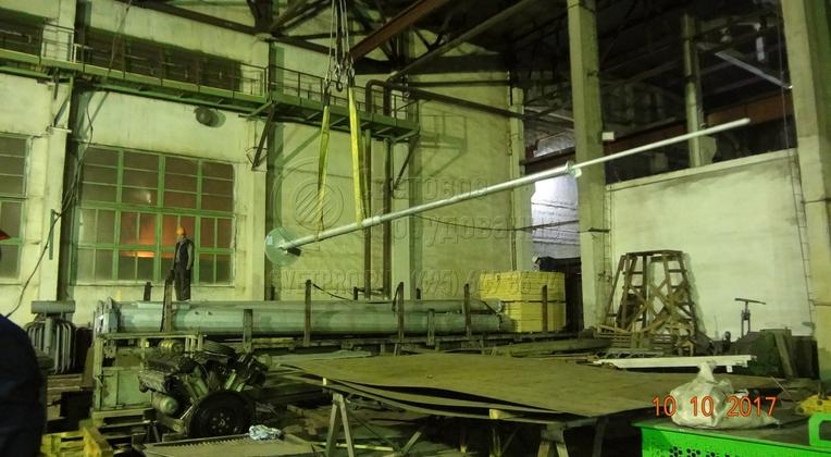 Размеры молниеприёмника на мачты ВМО обсуждаются с заказчиком перед размещением в заказ.