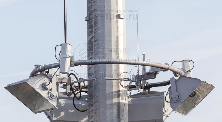 Безопасное обслуживание приборов на мачте ВМО осуществляется с помощью опускания короны.