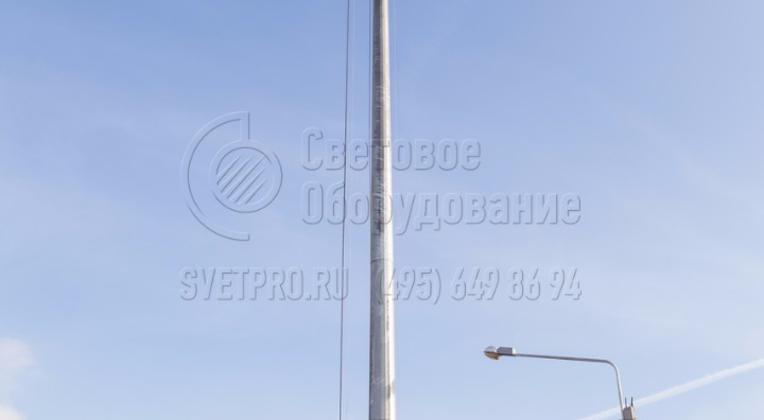 У мачт ВМО высота обслуживания светильников – 1,7–2,0 м.