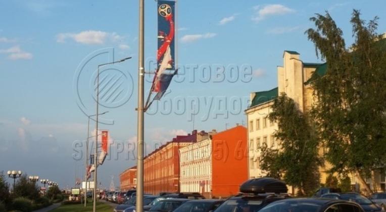 г. Нижний Новгород, опоры НФК, данный тип опор монтируется на заранее забетонированную закладную деталь фундамента глубиной от 1 до 2,5 м.