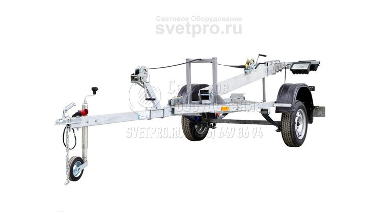 В сложенном состоянии выдвижная мачта имеет минимальные габариты. Ее можно буксировать грузовым автомобилем по дорогам общего пользования. Развертывание занимает несколько минут и не требует использования специального оборудования. Лебедка является частью конструкции.