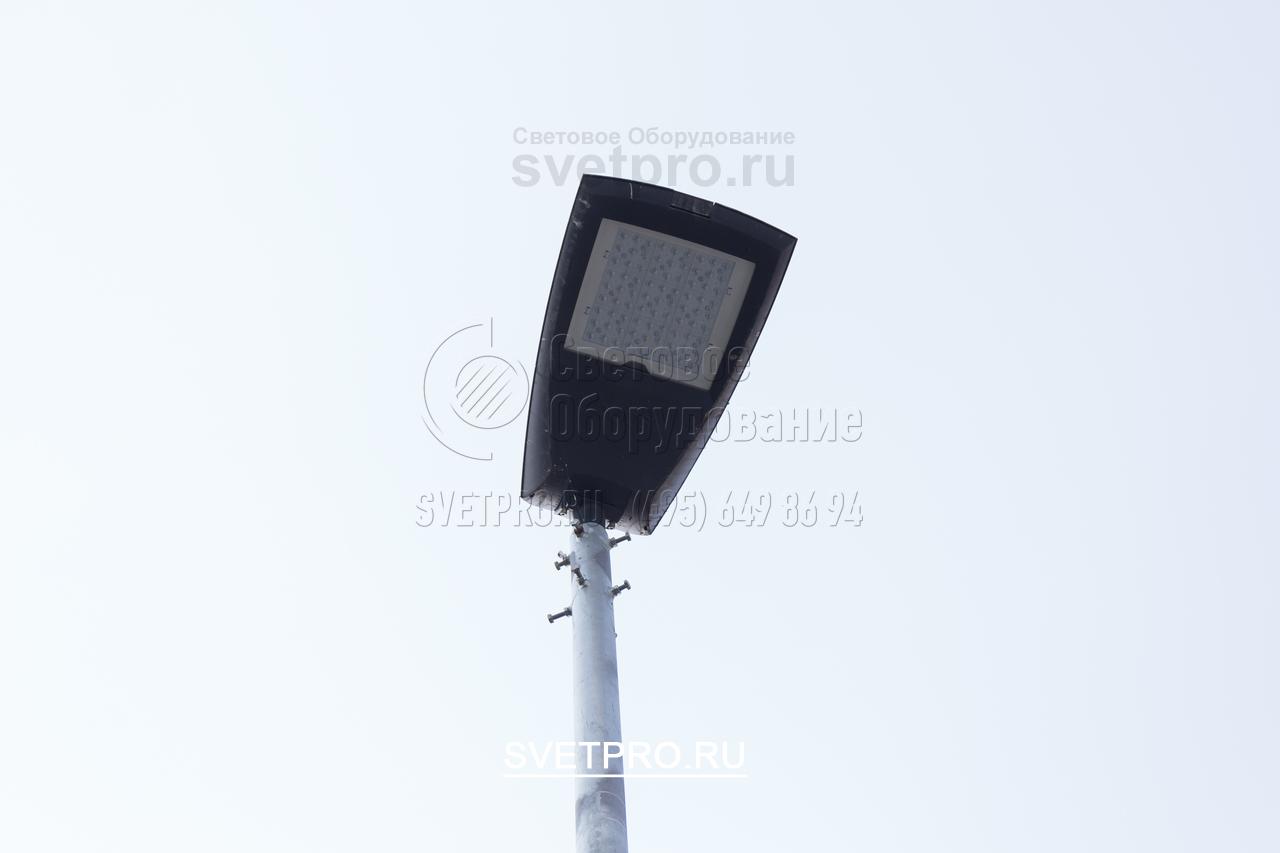 Из-за небольшой конусности вершины у опоры ОГК-3, возможна прямая установка светильников