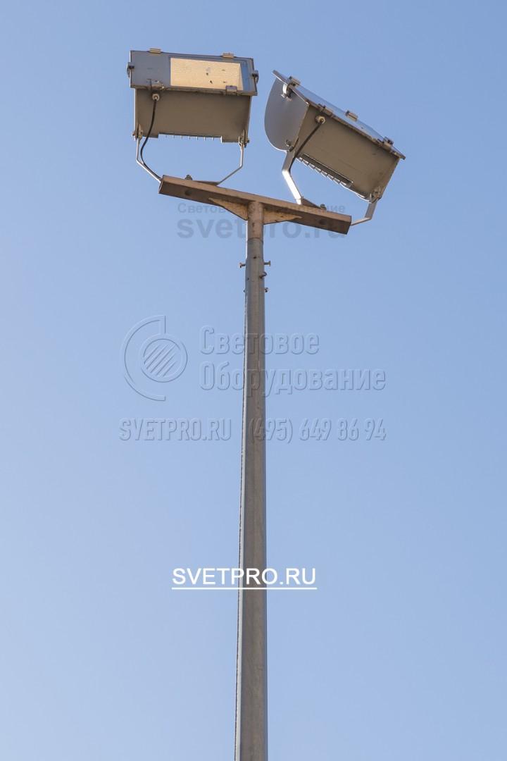 Опоры ОГК-3 так же применимы для архитектурной подсветки и подсветки памятников, с помощью т-обр. кронштейнов и прожекторов