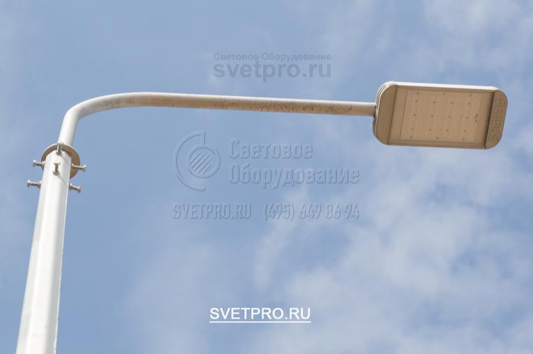 На данный тип опор ОГК-3 допускается установка: Кронштейнов с вылетом до 1,5м с двумя светильниками, в ветровых районах эксплуатации до II-го включительно