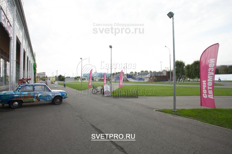 Установка опор ОГК-3 в г. Сочи под освещение автомузея