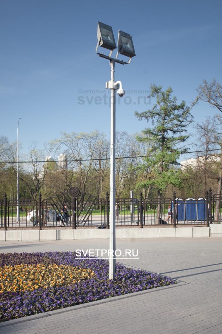 Так же опоры ОГК-4 могут быть использованы для установки на них видеонаблюдения.