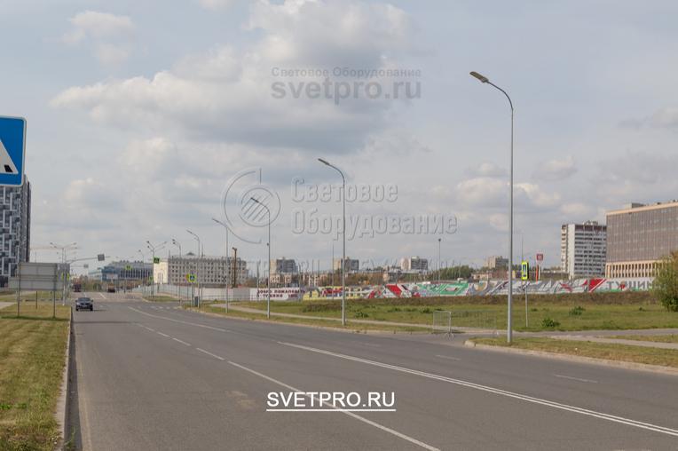 Освещение проезжей части в г. Москва