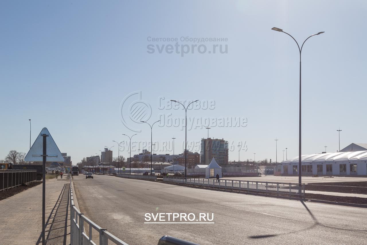 Освещение проезжей части в г. Нижний Новгород Московский р-он.