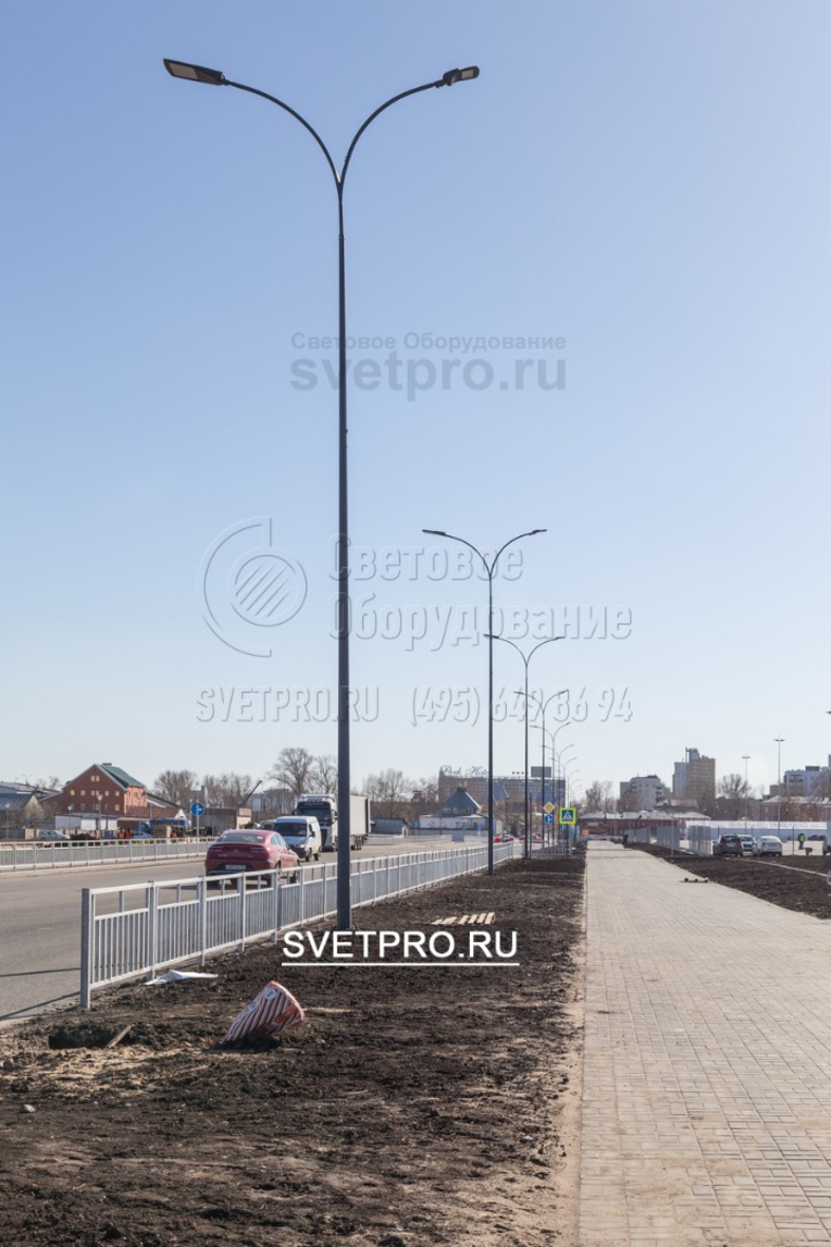 Использование опор ОГК-6 выгодно для освещения в две стороны, для освещения тротуара и освещения проезжей части.