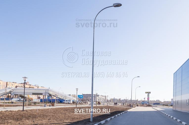 Освещение проезжей части, опорами ОГК-6 г. Нижний Новгород ул. Бетанкура