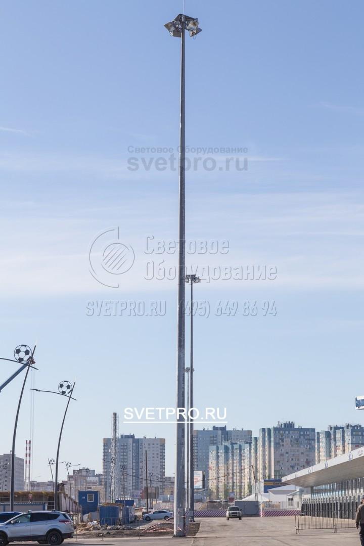 Мачта ВМО‐30 предназначена для монтажа прожекторов на высоте 30 м от уровня земли.