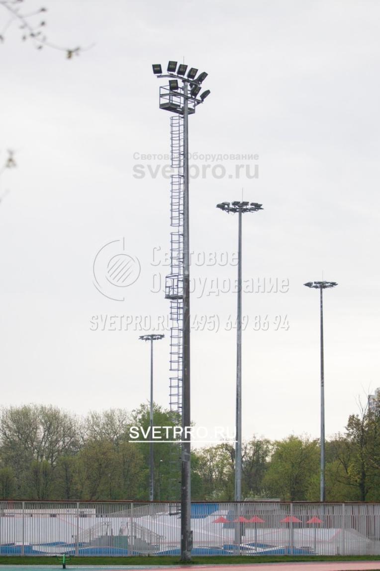 Освещение парка «Останкино», зона атлетического манежа.