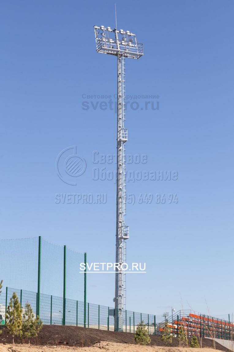 Освещение тренировочного стадиона в г. Красногорске Московской области.