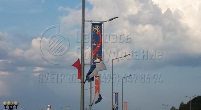 Освещение Нижневолжской набережной, г. Н. Новгород с помощью опор НПК-8,0/9,5-02-ц.