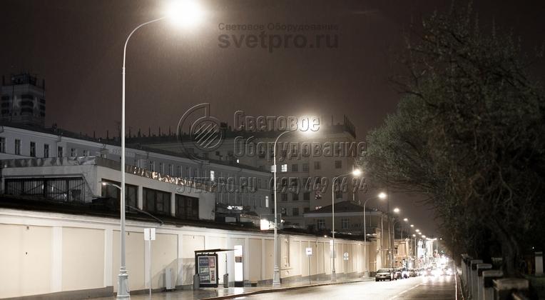 Подсветка проезжей части г. Москва опорами НПК-9,0/11,0-02-ц.