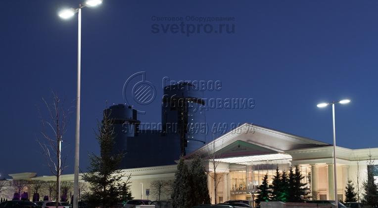 Иллюминация парковки ТРЦ Vegas г. Москва опорами НПК-9,0/11,0-02-ц.