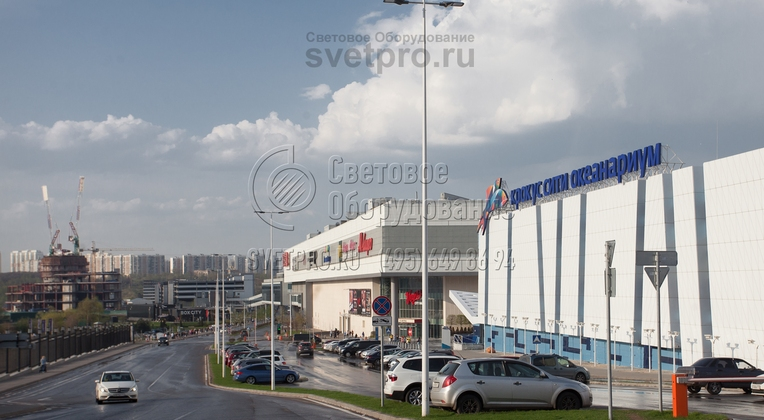 г. Москва, освещение Бульвара строителей и прилегающей парковки опорами НПК-10/11,5-02-ц.