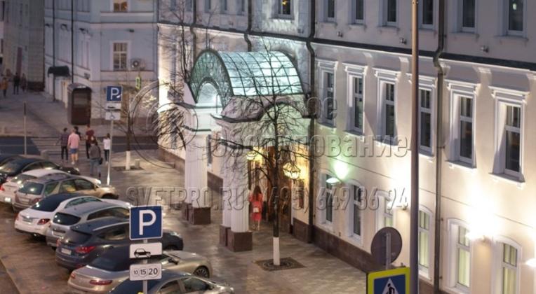 Подсветка дороги и пешеходного перехода с использованием опор НПК-10/11,5-02-ц., г. Москва.