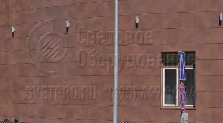 Освещении территории Международного коммерческого арбитражного суда в Нижнем Новгороде.