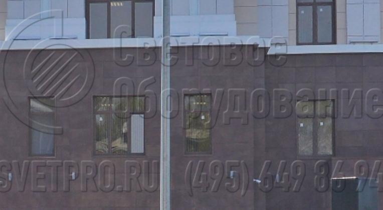 Освещении парковки автомобилей Международного коммерческого арбитражного суда в Нижнем Новгороде.