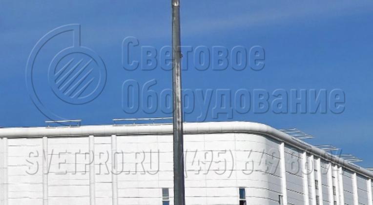 Организация охранного освещения с применением прожекторов большой мощности.