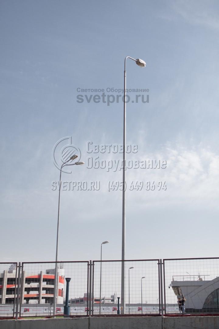 НФГ-6 Опора несиловая фланцевая граненая высота 6 метров
