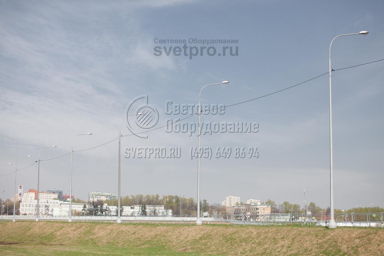 СФГ-400(90)-10 Опора силовая фланцевая граненая высота 10 метров