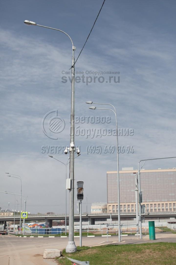 СФГ-1300-9 Опора силовая фланцевая граненая высота 9 метров