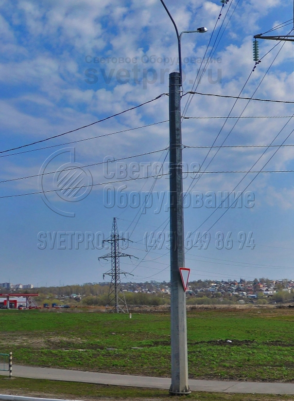 СФГ-1800-10 Опора силовая фланцевая граненая высота 10 метров