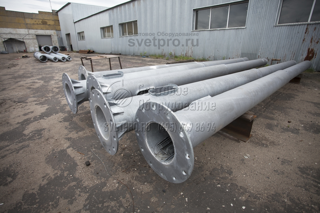 СФ-700-8,5 Опора силовая фланцевая трубчатая высота 8,5 метров