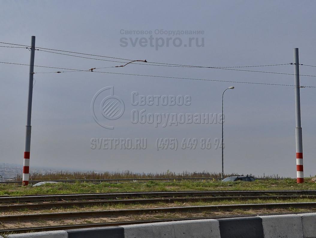 ТП-900-9 Опора контактной сети прямостоечная трубчатая высота 9 метров