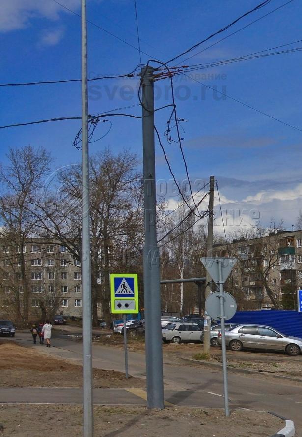 ТП-1200-9 Опора контактной сети прямостоечная трубчатая высота 9 метров