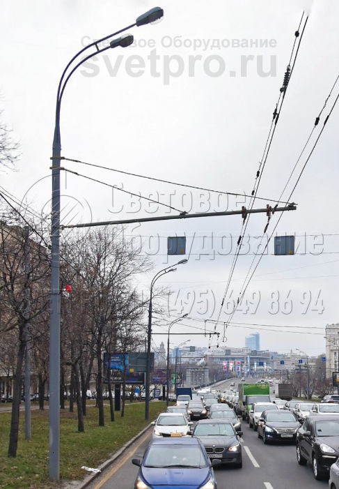 ТП-1300-9 Опора контактной сети прямостоечная трубчатая высота 9 метров