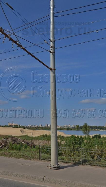 ТФГ-700-10 Опора контактной сети фланцевая граненая высота 10 метров