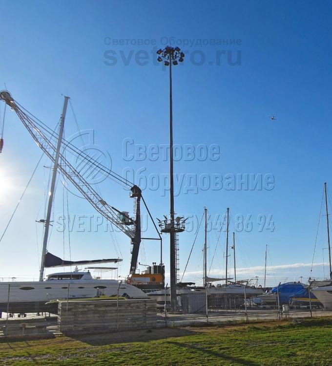 МГФ-СР-М-3 Мачта со стационарно-мобильной короной высота 20-40 метров